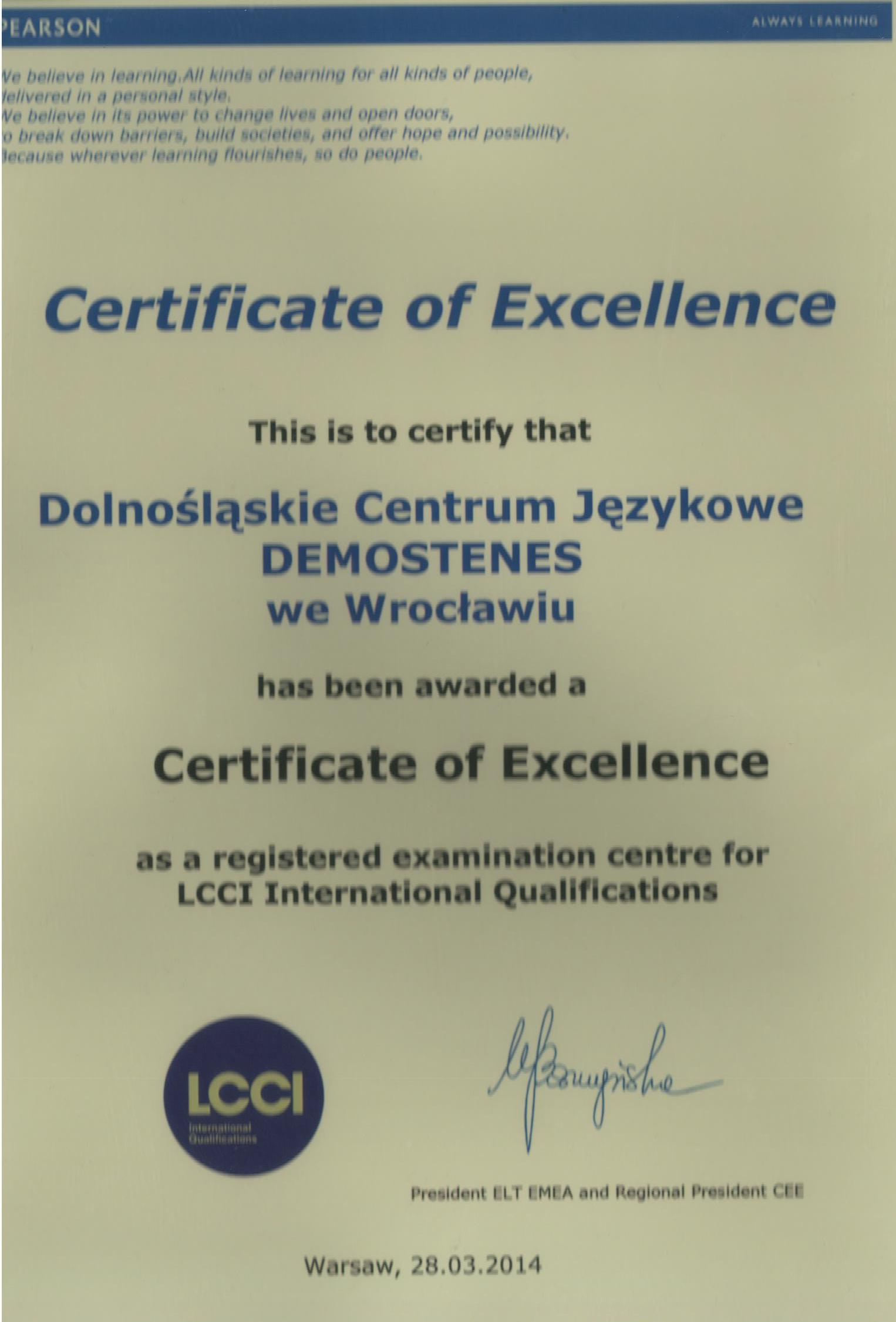 Certyfikat z języka niemieckiego
